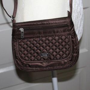 Brown Mini Crossbody Travel bag Sway design by Lug